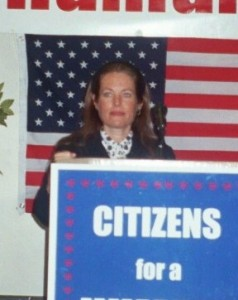 Charlotte Laws speaking at an event