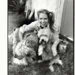 charlotte with her dogs