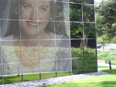 the reflection of Charlotte Laws